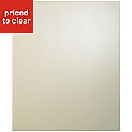 Cooke & Lewis Raffello High Gloss Cream Standard Cabinet door (W)600mm