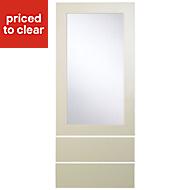 Cooke & Lewis Raffello High Gloss Cream Dresser door & drawer front, (W)500mm