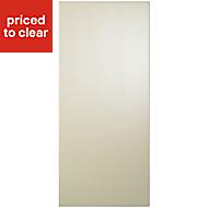 Cooke & Lewis Raffello High Gloss Cream Tall Cabinet door (W)400mm