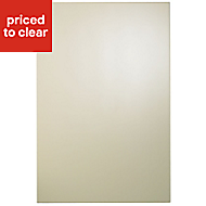 Cooke & Lewis Raffello High Gloss Cream Tall Cabinet door (W)600mm