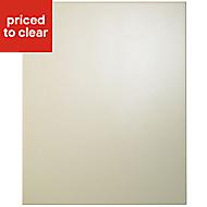 Cooke & Lewis Raffello High Gloss Cream Tall single oven housing Cabinet door (W)600mm