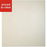 Cooke & Lewis Raffello High Gloss Cream Tall oven housing Cabinet door (W)600mm