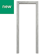 Exmoor Oak effect Grey Internal Door frame, (H)1981mm (W)610mm
