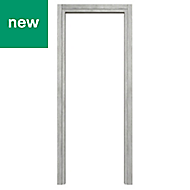 Exmoor Oak effect Grey Internal Door frame, (H)1981mm (W)762mm
