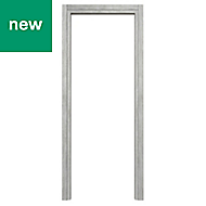 Exmoor Oak effect Grey Internal Door frame, (H)1981mm (W)838mm