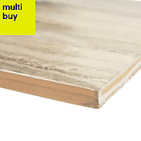 Neos Light beige Matt Wood effect Ceramic Wall tile, Pack of 8, (L)500mm (W)250mm