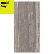 Neos Grey Matt Wood effect Ceramic Wall tile, Pack of 8, (L)500mm (W)250mm