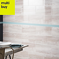 Bali Grey Matt Stone effect Ceramic Wall tile, Pack of 8, (L)500mm (W)250mm