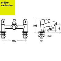 Ideal Standard Opus Chrome finish Bath shower mixer tap