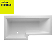 Cooke & Lewis Adelphi LH Acrylic L shaped Shower Bath (L)1675mm (W)1675mm