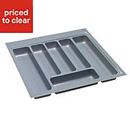B&Q Plastic Stainless steel effect Utensil tray, (H)50mm (W)460mm