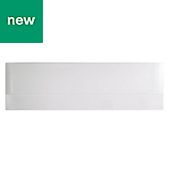 Cooke & Lewis Rigid Gloss White acrylic White Straight Bath end panel (W)750mm