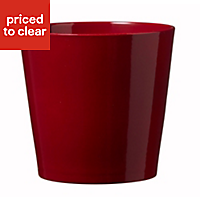 Soendgen Keramik Dallas Glazed Red Plant pot (H)270mm (Dia)280mm