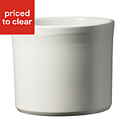 Soendgen Keramik Miami White Plant pot (H)710mm (L)140mm (Dia)280mm