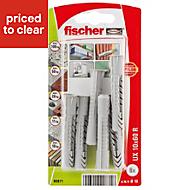 Fischer Nylon Multipurpose plug, Pack of 6