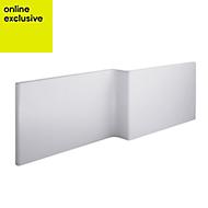 Cooke & Lewis Adelphi Gloss White RH Bath front panel (W)1690mm
