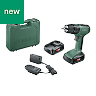 Bosch Cordless 18V 1.5Ah Li-ion Two speed combi drill 2 batteries 06039C8171