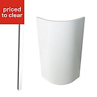 Cooke & Lewis Raffello High Gloss White Standard Cabinet door kit Pack of 1