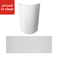 Cooke & Lewis Raffello High Gloss White Cabinet door kit Pack of 1