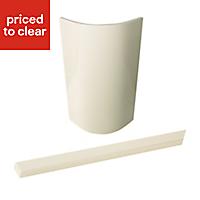 Cooke & Lewis Raffello High Gloss Cream Standard curved door & filler post