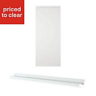 IT Kitchens Marletti Gloss White Corner Cabinet door kit (W)250mm