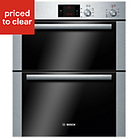 Bosch HBN13B251B Brushed steel Integrated Electric Double Double Oven