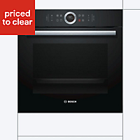 Bosch HBG633BB1B Black Integrated Electric Single Multifunction Oven