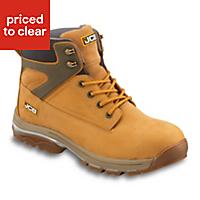 JCBFast TrackHoneySafety boots, Size 6
