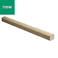 Elements Modern Natural Oak Handrail, (L)2.4m (W)65mm