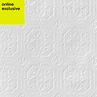 Anaglypta Original White Derby Textured Wallpaper