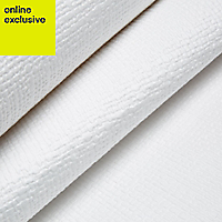 Retford Anaglypta original White Weave Paintable Wallpaper