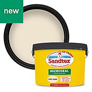 Sandtex Ivory stone Masonry paint, 10L