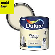 Dulux Natural hints Orchid white Matt Emulsion paint 2.5L