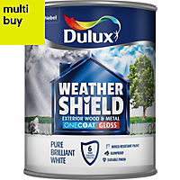 Dulux Trade Pure brilliant white Gloss Wood & metal paint 0.75L
