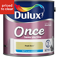 Dulux Once Fresh stem Matt Emulsion paint 2.5 L