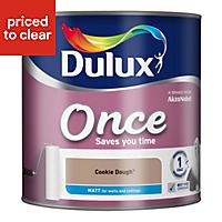 Dulux Once Cookie dough Matt Emulsion paint 2.5L
