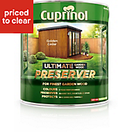 Cuprinol Ultimate Golden cedar Matt Wood preserver, 4L