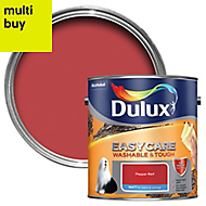 Dulux Easycare Pepper red Matt Emulsion paint 2.5L