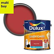 Dulux Easycare Pepper red Matt Emulsion paint, 2.5L