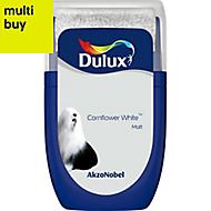 Dulux Standard Cornflower white Matt Emulsion paint 0.03L Tester pot