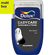 Dulux Easycare Rich black Matt Emulsion paint 0.03L Tester pot