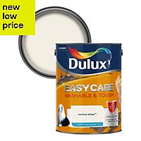 Dulux Easycare Jasmine white Matt Emulsion paint 5L