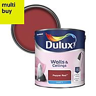 Dulux Standard Pepper red Matt Emulsion paint, 2.5L