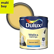 Dulux Standard Banana split Matt Emulsion paint 2.5L