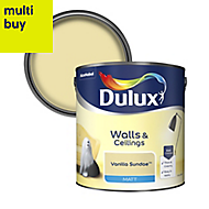 Dulux Standard Vanilla sundae Matt Emulsion paint 2.5L