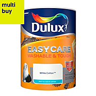 Dulux Easycare White cotton Matt Emulsion paint 5L