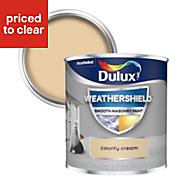 Dulux Weathershield County cream Smooth Matt Masonry paint 0.25L Tester pot