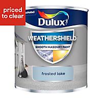 Dulux Weathershield Frosted lake Smooth Matt Masonry paint, 0.25L Tester pot