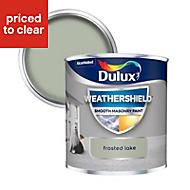 Dulux Weathershield Frosted lake Smooth Matt Masonry paint 0.25L Tester pot