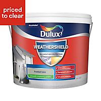 Dulux Weathershield Frosted lake Smooth Matt Masonry paint, 10L